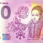 Čachtický hrad 2020-1 0 euro souvenir bankovka slovensko