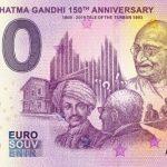 0 euro INDIA – MAHATMA GANDHI 2019-3 150th anniversary zero euro souvenir banknote
