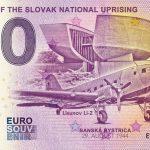 0 euro banknote slovakia museum of the slovak national uprising 2019-3 0 euro souvenir slovensko