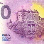 0 euro bankovka hrad lupca 2020-1 zero euro souvenir slovensko anniversary