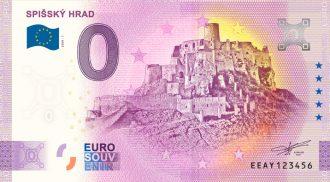 0 euro bankovka slovensko Spišský hrad 2020-1 zero euro souvenir novy dizajn