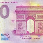 0 euro souvenir Arc de Triomphe – Paris 2020-2 Anniversary zeroeuro banknote france