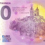 0 euro souvenir Banská Štiavnica 2020-1 Anniversary zero euro bankovka slovensko