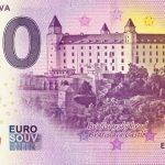 0 euro souvenir Bratislava 2019-1 zero euro bankovka slovensko