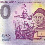 0 euro souvenir CRISTOFORO COLOMBO 2019-1 zero euro schein