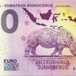 0 euro souvenir Indonesia – Sumatran Rhinoceros 2019-3 wildlife series banknote