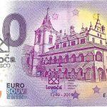 0 euro souvenir Levoča 2019-1 slovensko bankovka s peciatkou 1