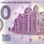 0 euro souvenir Lučenec - Neologická Synagóga 2019-1 pečiatka zero euro bankovka