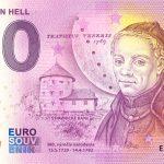 0 euro souvenir Maximilián Hell 2020-1 zero euro bankovka slovensko