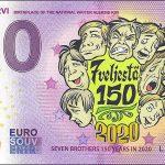 0 euro souvenir Nurmijärvi 2020-1 Colored zeroeuro banknote finland