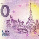 0 euro souvenir PARIS Ile de la Cité 2019-1 france banknote