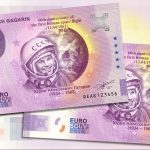 0 euro souvenir YURI ALEKSEYEVICH GAGARIN 2021-1 anniversary novy design zero euro banknote russia