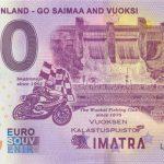 0 euro souvenir banknote Imatra Finland – Go Saimaa and Vuoksi 2020-1 Anniversary chybotlač error print