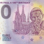 0 euro souvenir banknote Pope John Paul II 100th Birthday 2020-1 germany