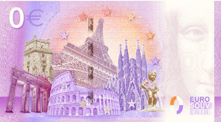 0 euro souvenir banknote reverse 2020