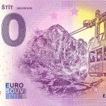 0 euro souvenir bankovka Lomnický štít 2020-1 zero euro slovensko