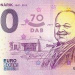 0 euro souvenir bankovka slovensko Jozef Bednárik 2019-1 zero euro slovakia