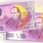 0 euro souvenir bankovka slovensko andrej braxatoris-sladkovic 2020-2 anniversary novy dizajn set