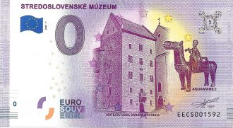 0 euro souvenir bankovka slovensko stredoslovenske muzeum 2020-1