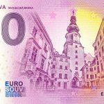 0 euro souvenir bratislava 2020-4 michalska brana zeroeuro bankovka slovensko
