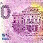0 euro souvenir bratislava 2020-5 divadlo zeroeuro bankovka slovensko
