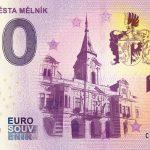 0 euro souvenir ceska republika 745 Let Města Mělník 2019-1 zero euro czech banknote