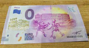 0 euro souvenir croatia pula 2019-1 zlatotlac golden print