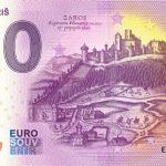 0 euro souvenir hrad saris 2021-1 zeroeuro banknovka slovensko