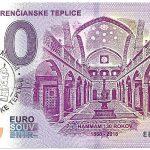 0 euro souvenir kupele trencianske teplice 2018-1 peciatka hammam 130 rokov zero schein billet banknote
