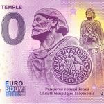 0 euro souvenir ordre du temple 2020-5 banknote france billet
