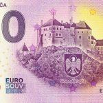 0 eurova bankovka slovensko hrad lupca 2020-1 zero euro souvenir