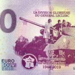 2éme D.B. 2019-2 0 euro souvenir la division glorieuse du general leclerc