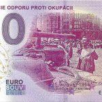 50 vyrocie odporu proti okupacii 2019-1 0 euro souvenir reliefna peciatka