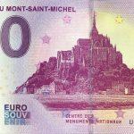 Abbaye du Mont-Saint-Michel 2019-3 0 euro souvenir