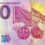 Abschied von der D-Mark 2020-1 Anniversary 0 euro souvenir banknote germany