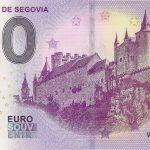 Alcazar de Segovia 2019-1 0€ souvenir zero euro banknote