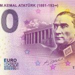 Ankara – M. Kemal Ataturk 2019-1 0 euro bankovka zero souvenir banknote