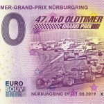 AvD-Oldtimer-Grand-Prix Nurburgring 2019-2 0 euro souvenir schein france