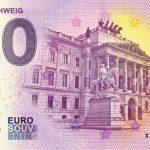 BRAUNSCHWEIG 2018-1 0 euro souvenir bankovka slovensko zero euro banknote