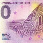 Baťovany - partizanske 2018-1 zero euro slovakia banknote 0 euro souvenir slovensko