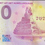 Bankbiljet uit het Huwelijksjaar 2021-2 0 euro souvenir banknote netherland