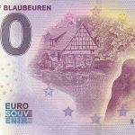 Blautopf Blaubeuren 2020-1 0 euro souvenir schein banknote