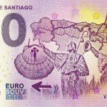 Camino de Santiago 2019-1 0 euro souvenir banknote zero euro bankovka