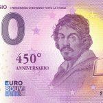 Caravaggio 2021-1 0 euro souvenir banknotes italy
