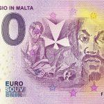Caravaggio in Malta 2019-1 0 euro souvenir bankovka zero euro banknote