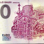 Casa Batlló Gaudi 2019-4 0 euro souvenir barcelona