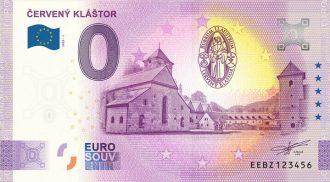 Červený kláštor 2020-1 0 euro souvenir bankovka slovensko new design