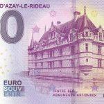 Chateau D´Azay-le-Rideau 2019-1 zero euro souvenir