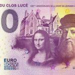 Chateau du Clos Lucé 2019-5 0 euro souvenir leonard de vinci