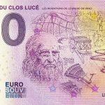 Chateau du Clos Lucé 2020-7 0 euro souvenir france banknote billet